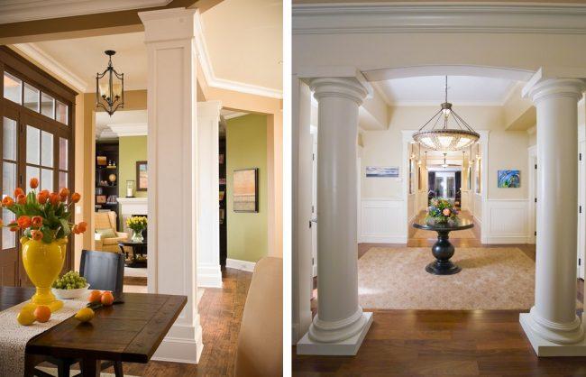 Декоративная колонна из гипсокартона своими руками: оригинальные решения в ремонте
