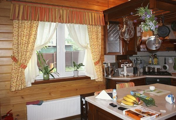 шторы на дачу в деревянный дом