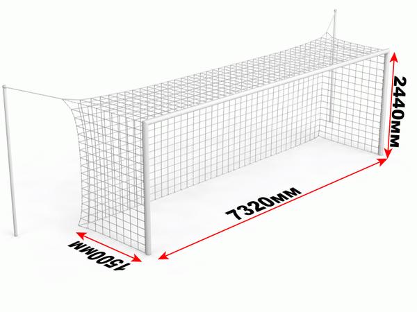 какая ширина и высота футбольных ворот