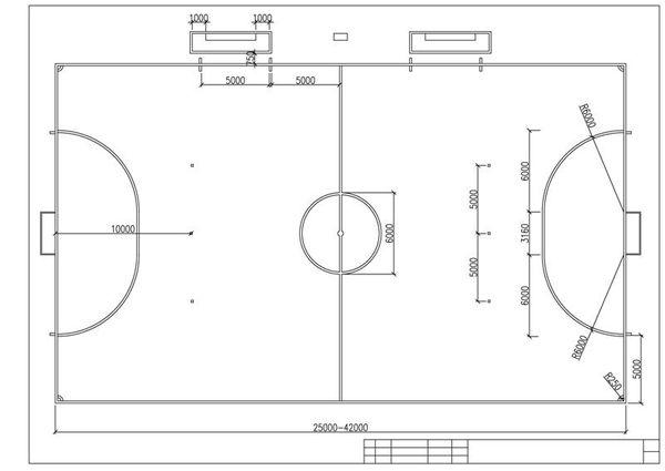 какие размеры стандартного футбольного поля